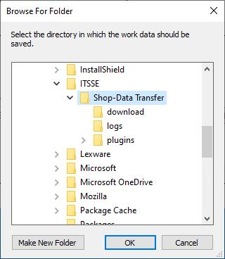 Shop-Data Transfer installation dialog 4