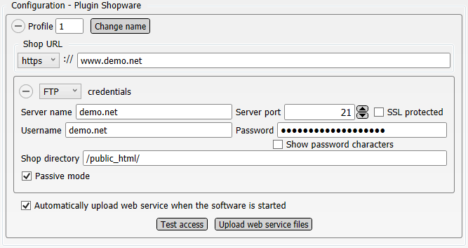 Configuration Plugin Shopware